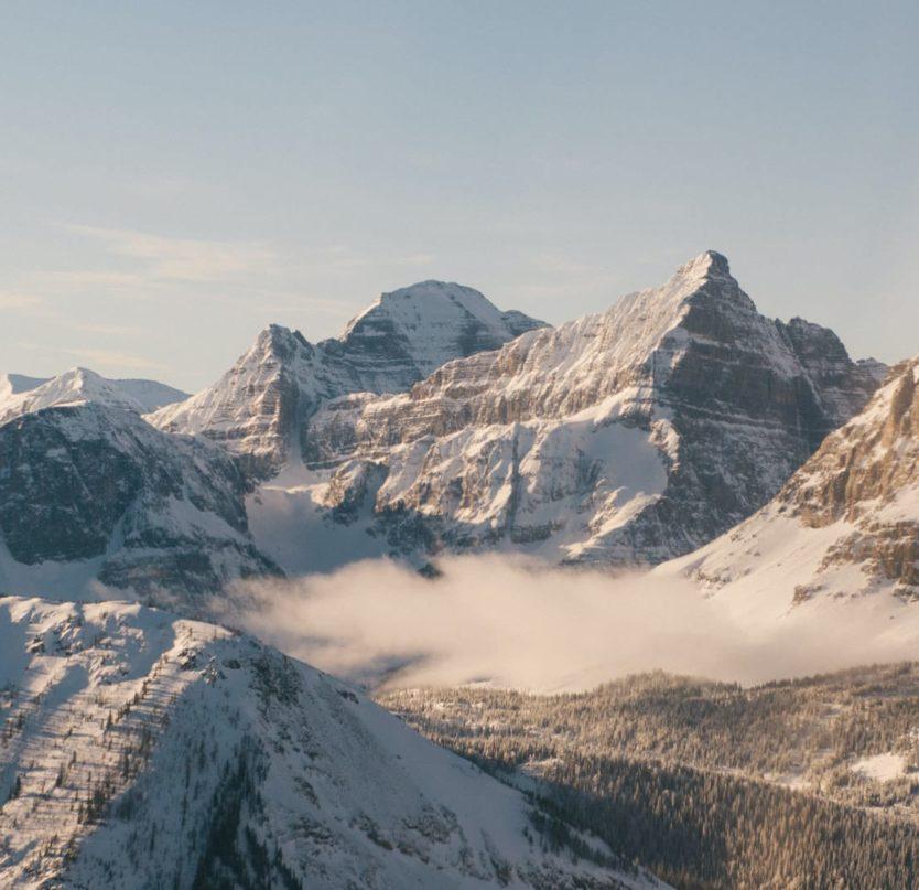 Canadian Rockies in winter.